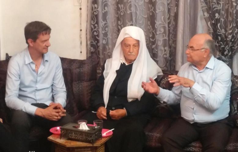 Eric Roux et Sheikh Husein Laviv Abu Rukun