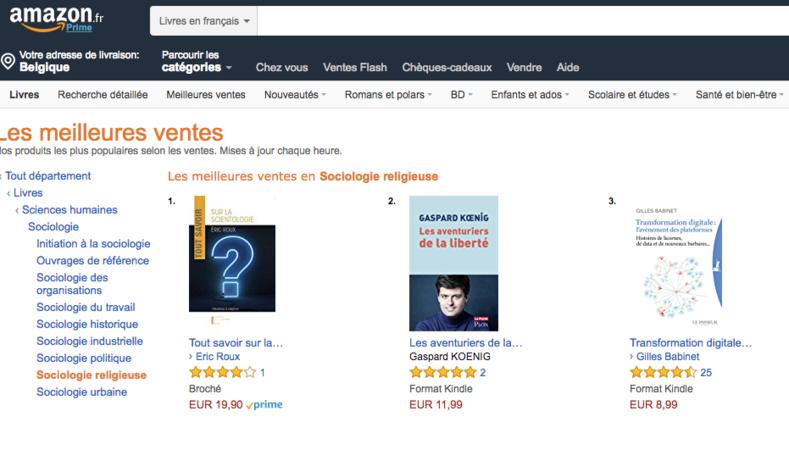 Le livre Tout Savoir sur la Scientologie n°1 des ventes Sociologie Religieuse chez Amazon