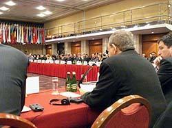 Intervention devant l'OSCE à Varsovie