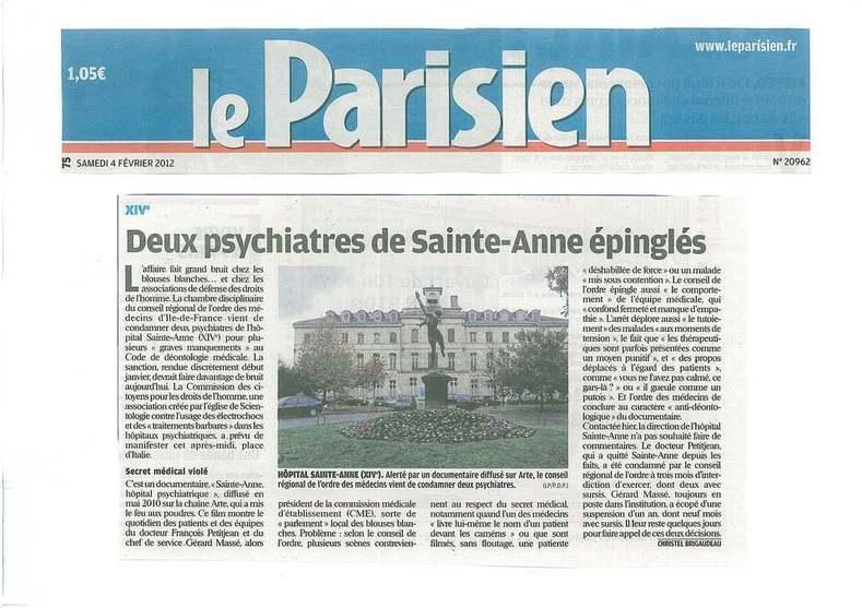 2 psychiatres de Saint-Anne condamnés