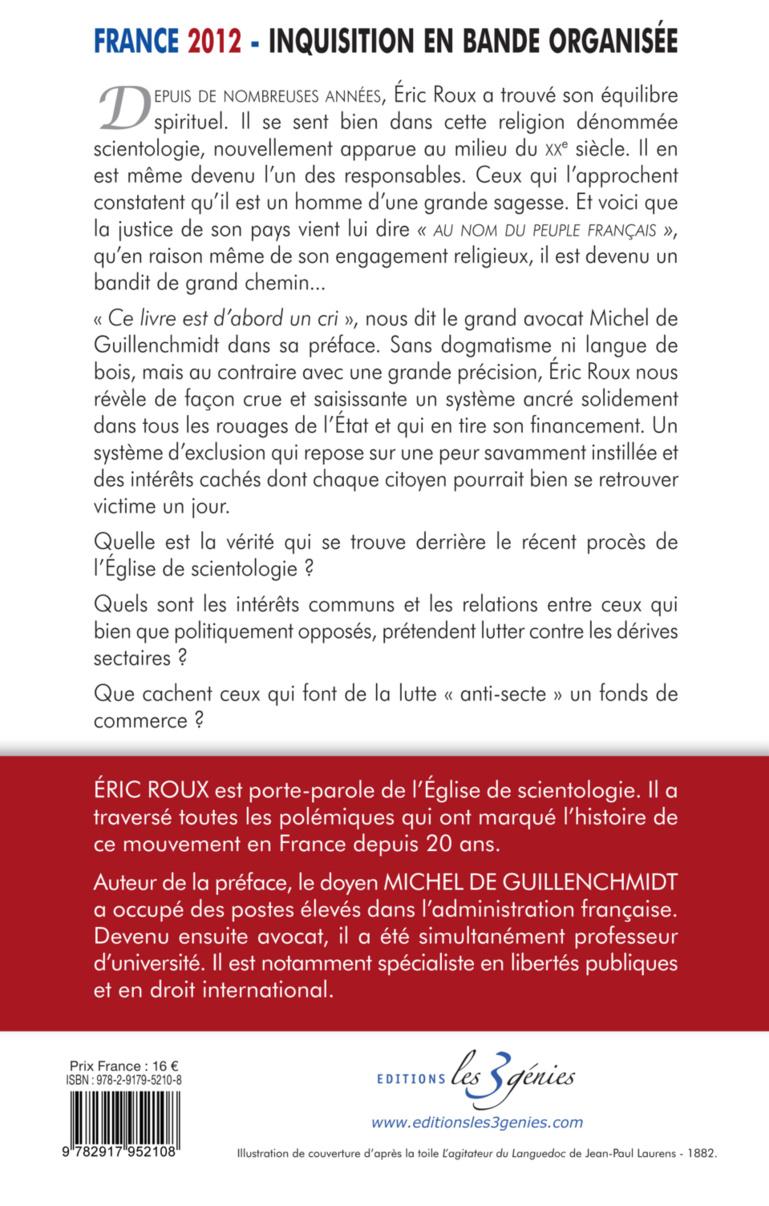 Nouveau livre : France 2012, Inquisition en bande organisée