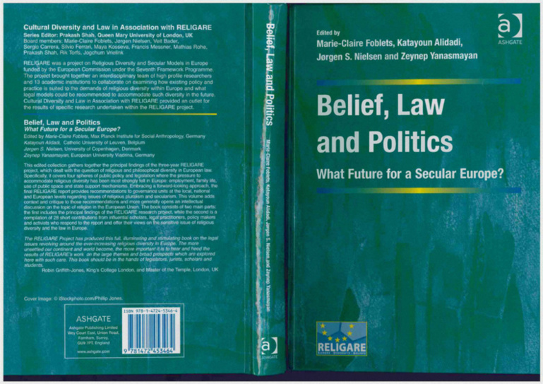 Parution de Belief, Law and Politics