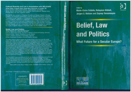 "Contribution au livre ""Belief, Law and Politics, What Future for a Secular Europe?"""