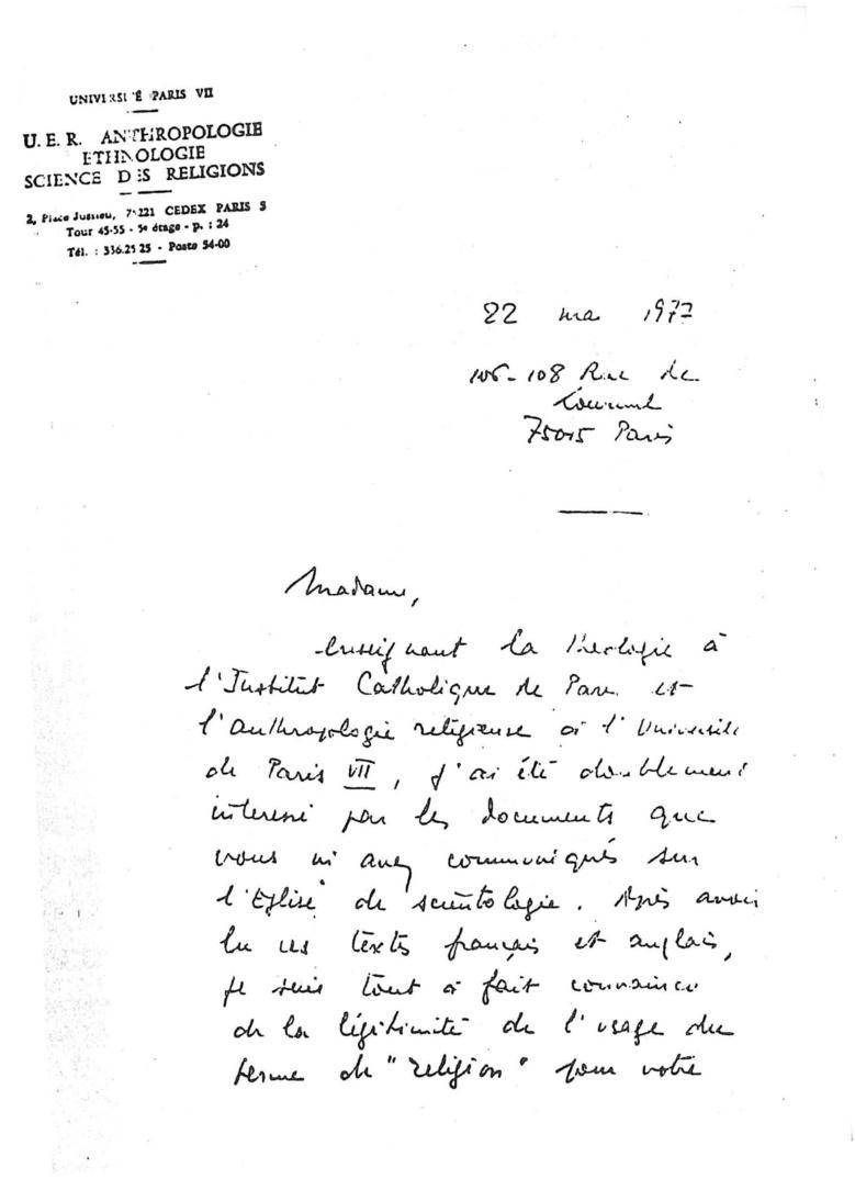 Michel de Certeau et la scientologie
