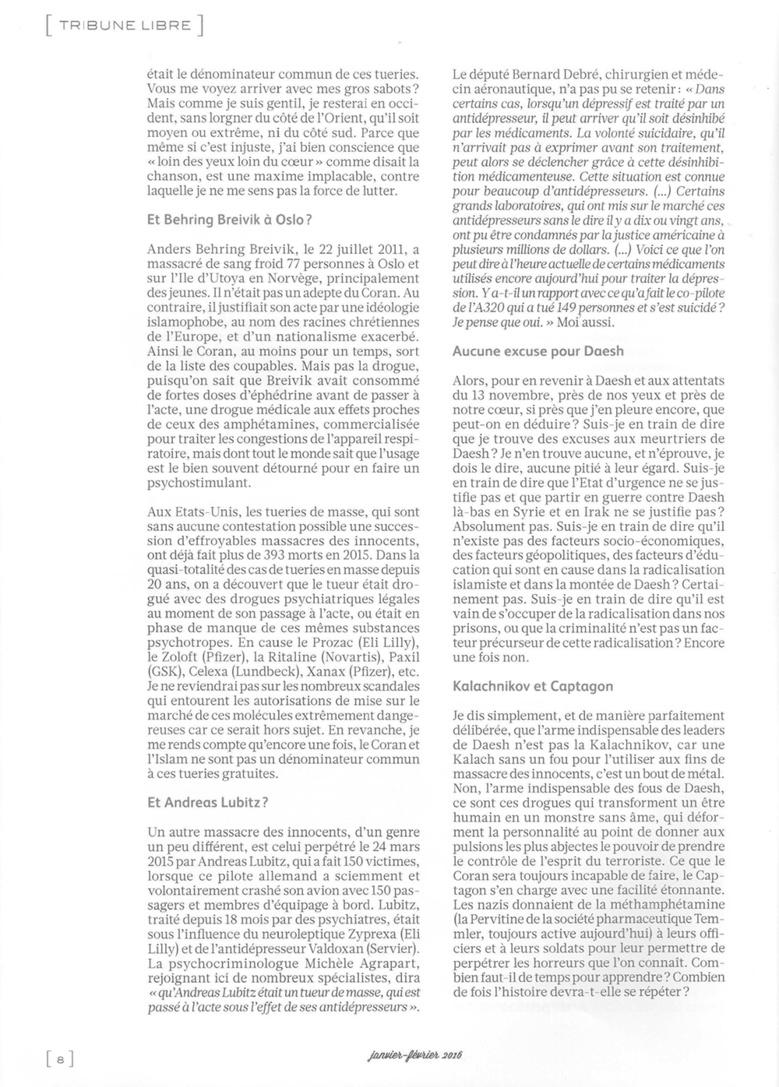 Nice: Daesh ou psychiatro-pharmacologie