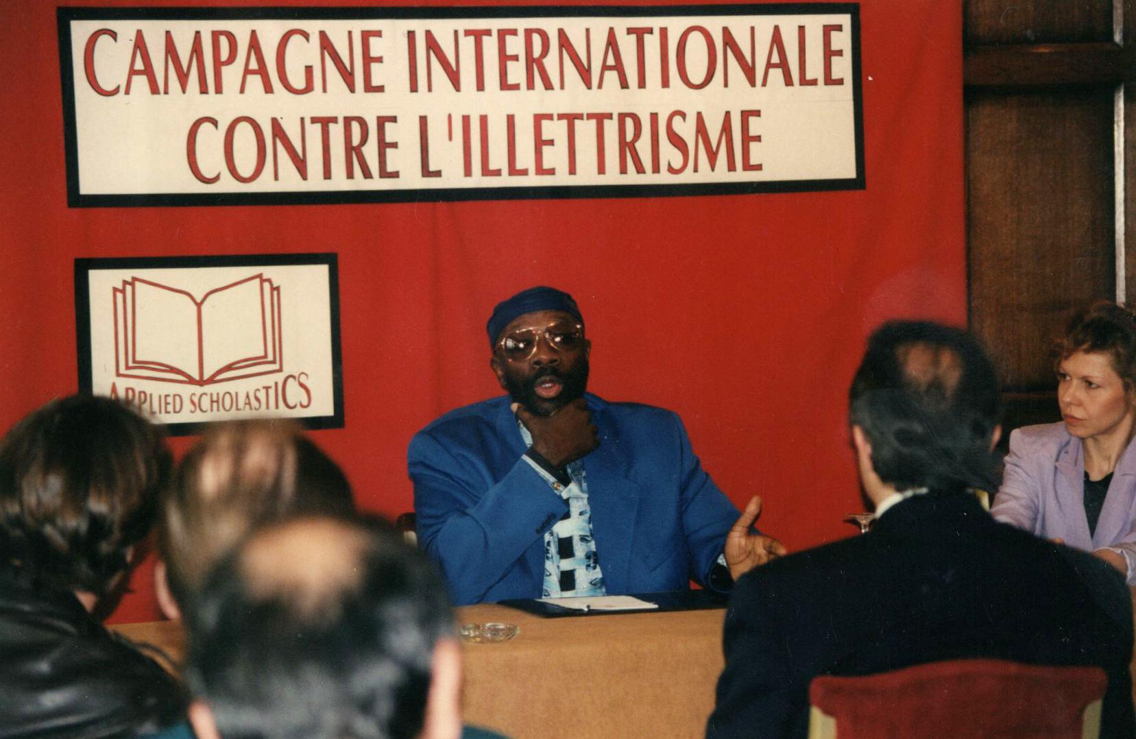 Isaac Hayes à Paris - Croisade contre l'illettrisme