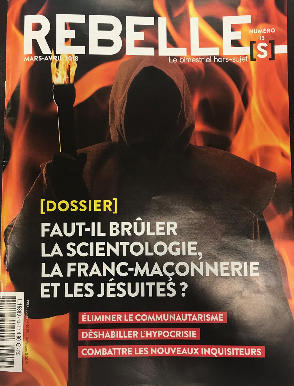 Article scientologie dans Rebelles 13 : le scientologue et la doxa