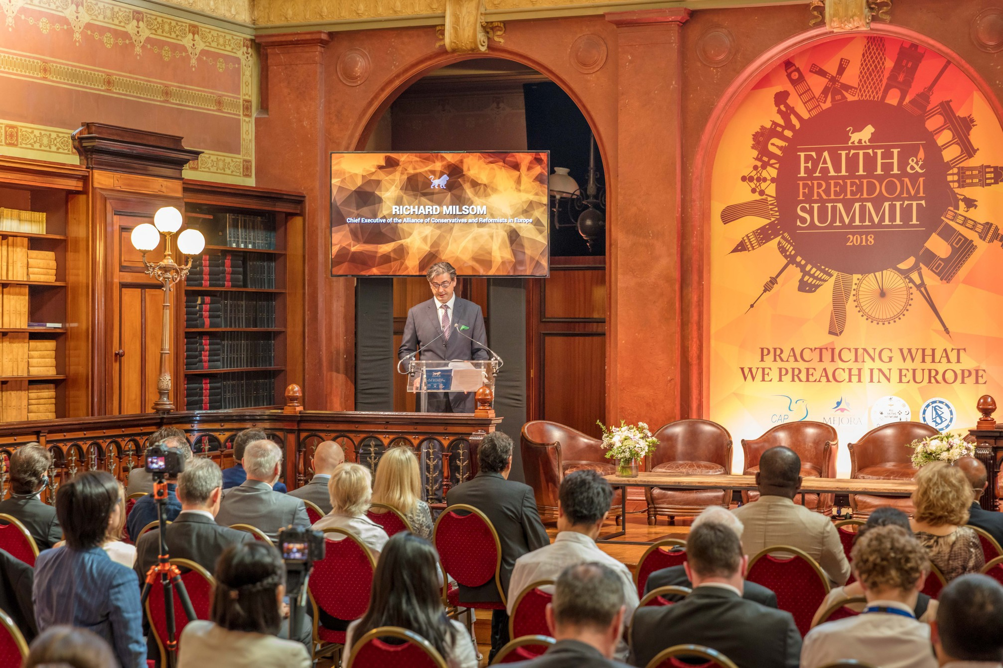 Richard Milsom at the Faith and Freedom Summit